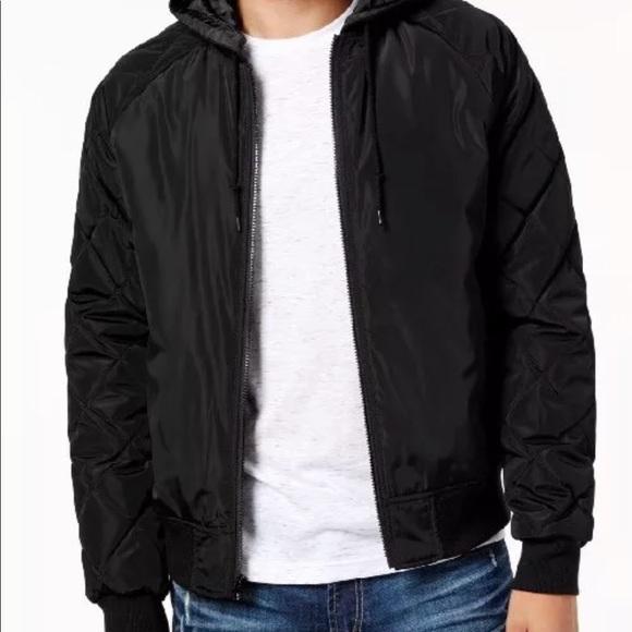0402e6fa8 Amercan Rag Hooded bomber jacket NWT